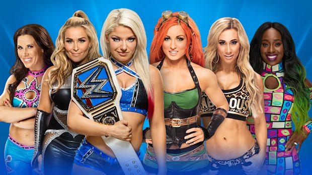 Wrestlemania 2017 Smackdown women match